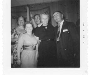 mom with Mr.and Mrs. Rosenberg, new year's eve December 31, 1957