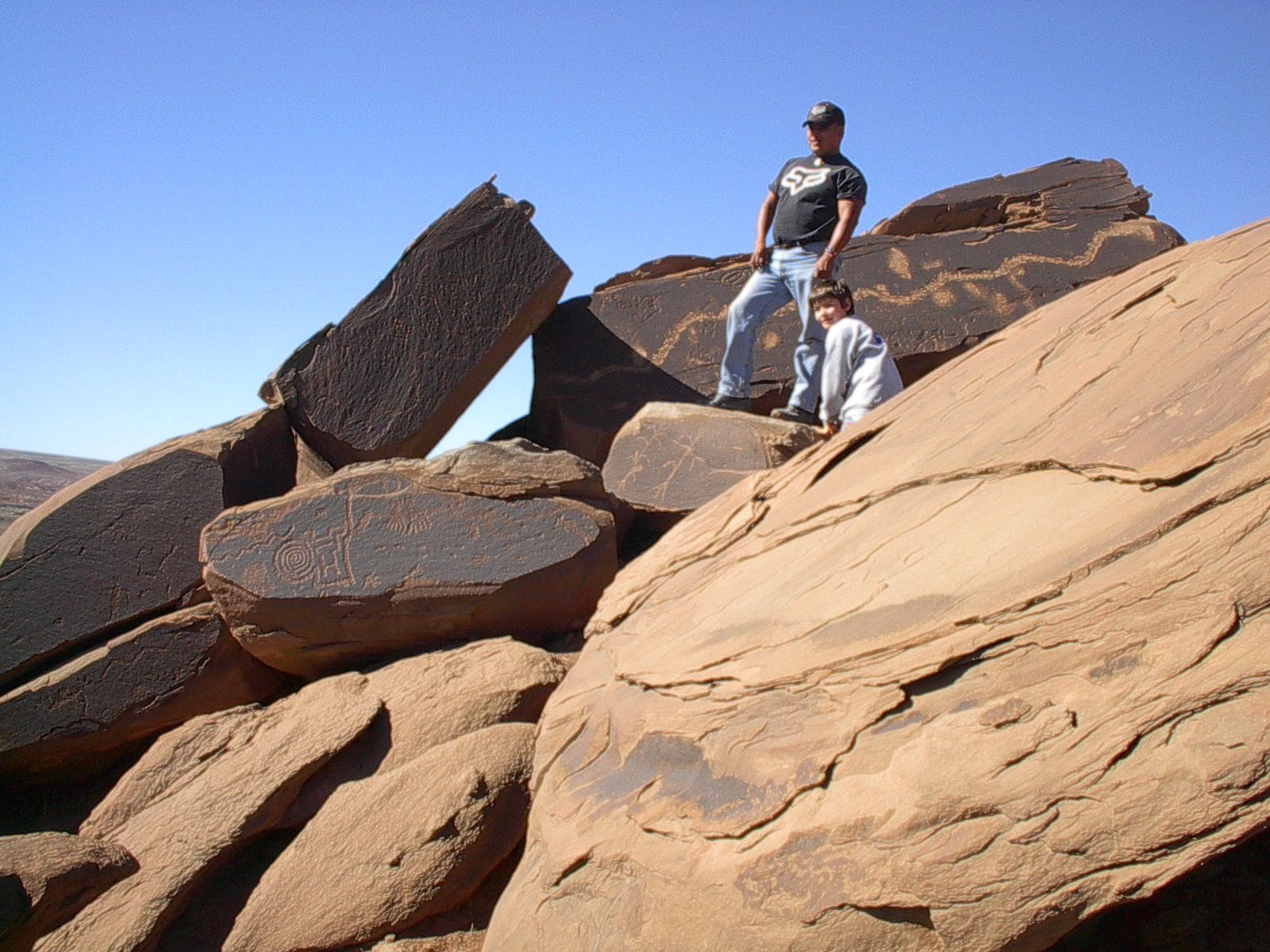 Justin and Little-Left-Handed Hunter On Petroglyphs